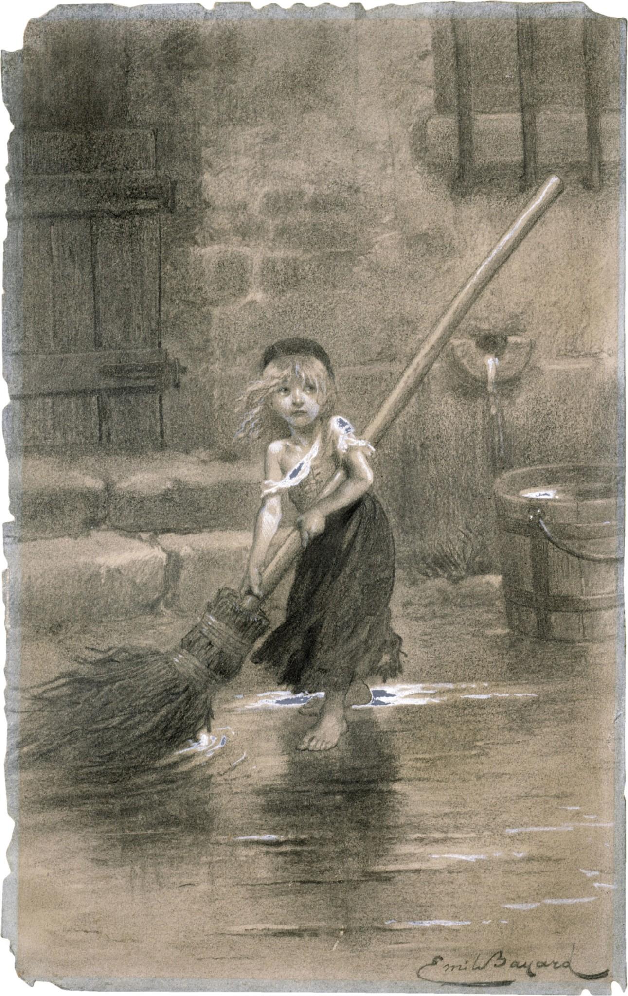 Cosette-sweeping-les-miserables-emile-bayard-1862